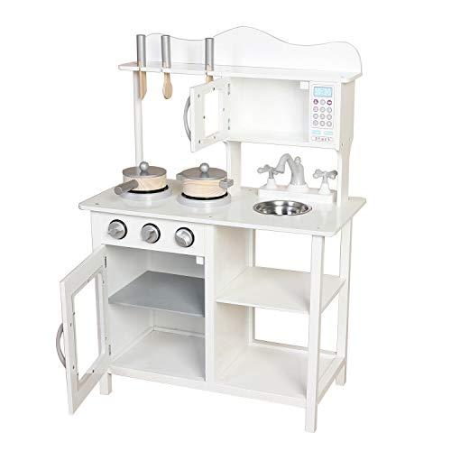 Kids Wooden Kitchen Set Pretend Play Toys Cooking Chef Birthday Xmas Gift...