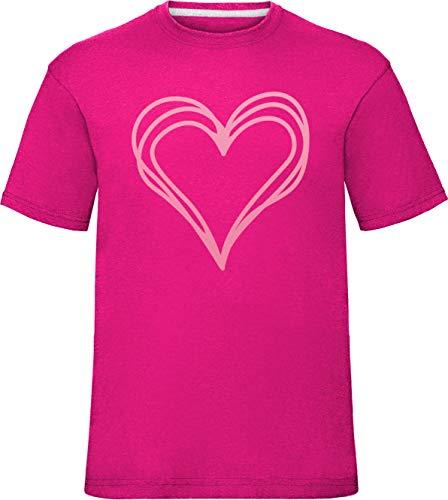 girls loopy scribble heart tshirt