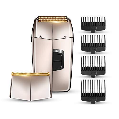 Rasoio elettrico per uomo 2 in 1 Rasoio elettrico professionale per barba Rasoio per barba per uomo Tagliacapelli Rasoio elettrico impermeabile Ricarica USB senza fili