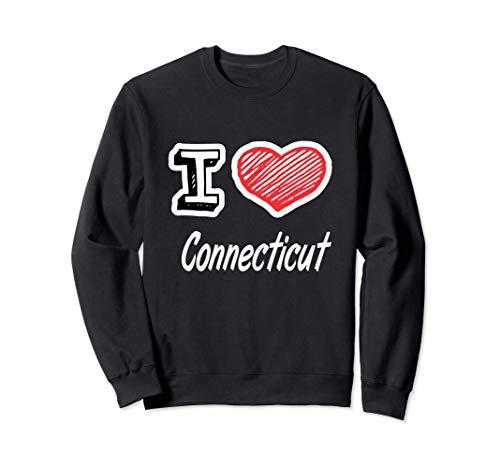 I Love Connecticut Felpa
