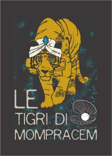 Posterlounge Leinwandbild 30 x 40 cm: Sandokan, Le tigri di Mompracem von Timone - fertiges Wandbild, Bild auf Keilrahmen, Fertigbild auf echter Leinwand, Leinwanddruck