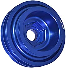 Fit Honda Civic/Integra (B16/B18/B20 DOHC Engine Only) Under Drive Crank Shaft Case Harmonic Balancer Pulley Blue