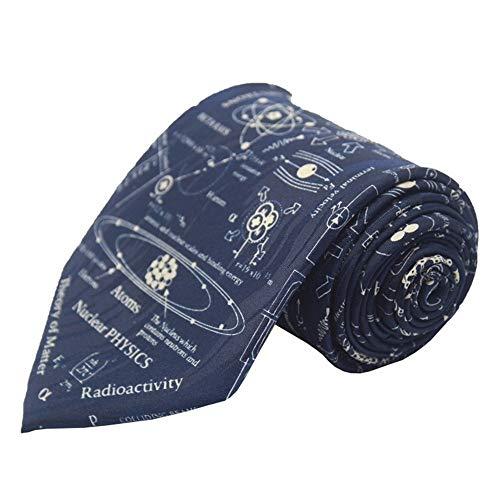 Hombres De Corbata De Poliéster Impreso/Patrón De Dibujos Animados Ciencia Elemento De Corbata/Camisa Corbata