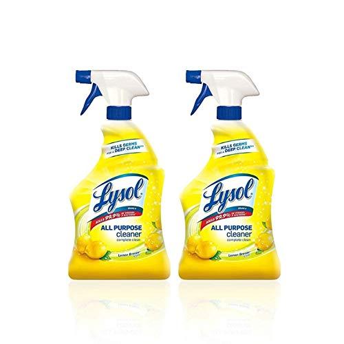 Lysol All Purpose Cleaner Spray, Lemon Breeze 32 oz (Pack of 4)