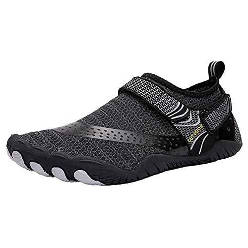 BAOFUBA Men's Trainers Summer Beach Bathing Shoes Casual Footwear Barfussschuhe Herren Quick-Drying Slip-On Swimming Shoes Mesh Shoes Sports Slippers with Velcro Fastening