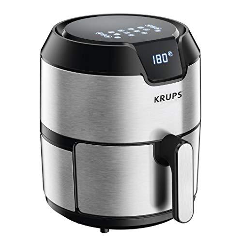 KRUPS 1510001480 EY401 4.2L Digital XL Air Fryer, 8 presets, Dishwasher safe, Removable Basket, Stainless Steel, 4.2 L
