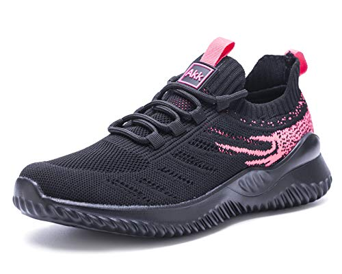 Women Athletic Walking Shoes - Slip On Trainers Running Sneakers Mesh Breathable...