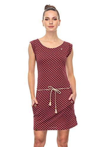 Ragwear Kleid Damen Tag Dogs 2041-20006 Dunkelrot 4055 Wine Red, Größe:M