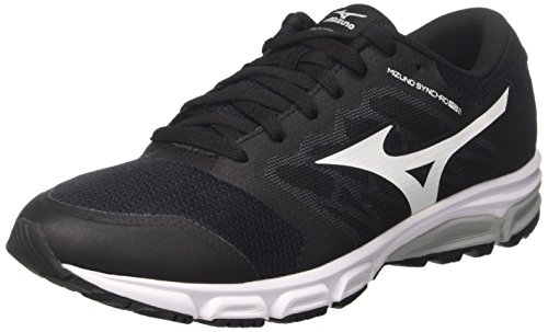 Mizuno Synchro MD, Zapatillas de Running para Hombre, Multicolor (Black/White/Griffin), 43 EU