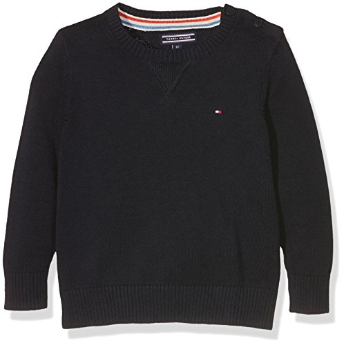 Tommy Hilfiger Basic HTR CN Sweater L/S. Pull, Bleu (Midnight 403), 80 Bébé garçon