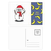 クリスマス雪だるまホルススカーフ支店 バナナのポストカードセットサンクスカード郵送側20個