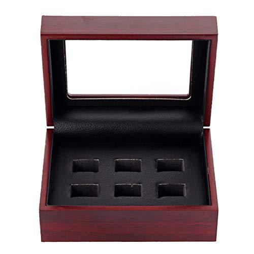TOPBATHY Sport meisterschaft ringe holzvitrine holzring aufbewahrungsbox ohrring schmuck container organizer für zuhause shop (6 löcher)