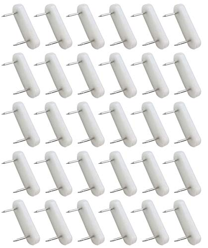 Hyamass 30pcs Plastic Head Double Pins Furniture Chair Leg Feet Pads Glide Nails Bed Skirt Holding Pins