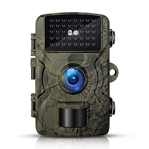 Artmi Trail Camera, 12MP Full HD Night Vision 1080P Hunting Game Camera with IP66 Waterproof, 2 inch LCD Screen Wildlife Camera for Outdoor Surveillance(32GB TF Card Included)