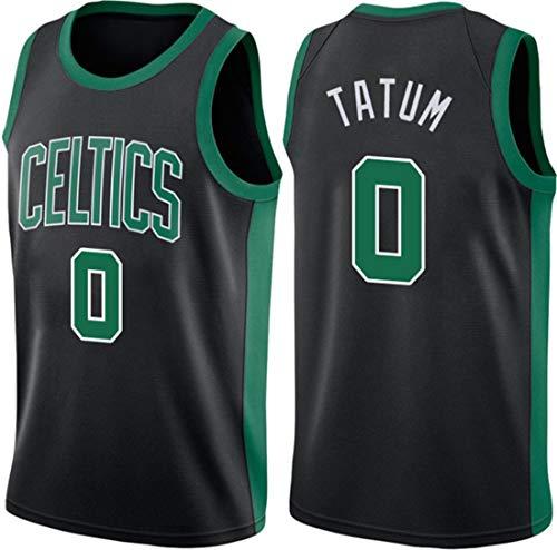 ATI-HSKJ Jayson Tatum 0# Trikots, NBA Boston Celtics Herren Basketballkleidung Coole Atmungsaktive Stoff Swingman Ärmellose Weste Top Kleidung,L