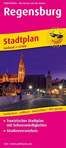 Regensburg: Touristischer Stadtplan mit Sehenswürdigkeiten und Straßenverzeichnis. 1:14000 (Stadtplan: SP)