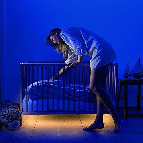 Kit De Luz De Tira Led,debajo De La Cama Gabinete Luces Palo-en Escaleras Gabinetes Armarios Dormitorio Entrada Lámpara De Luces Led,sensor De Movimiento Led Luz De La Cama Luces Nocturnas Luz Cálida