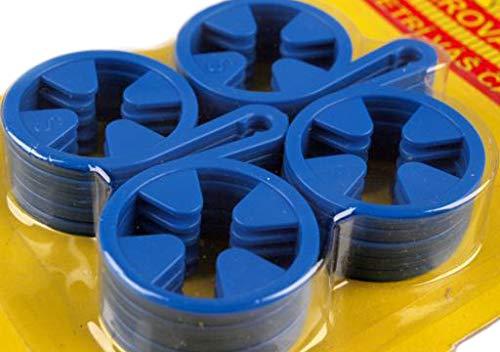 Sockenhalter Sockenclips Sockensortierer Sockenklammer Wäscheklammern Socken (blau)