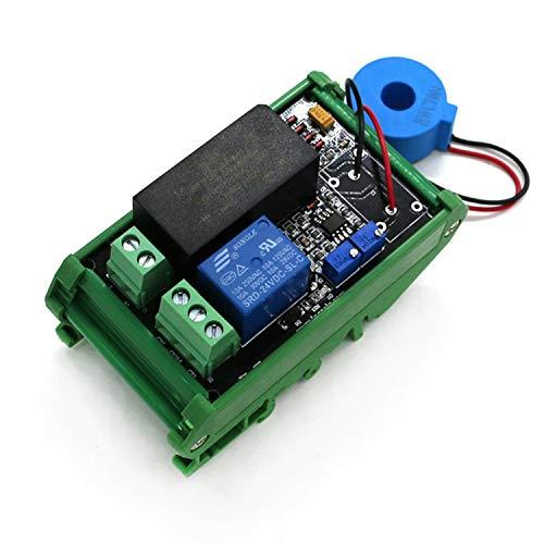 Range Arduino Interruptor AC detección del Sensor del módulo El máximo 50A, Intercambios del módulo, el Interruptor de Salida AC de 220V (Bundle : 0 to 50A Plus Base)