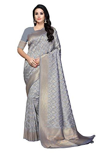 Soru Fashion Women's Pure Banarasi Art Silk Saree with Blo