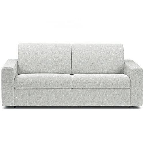 Canapé Convertible rapido CRÉPUSCULE Matelas 140cm Comfort BULTEX® Simili PUblanc