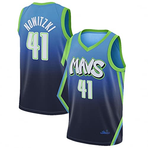AGLT 2021 NBA Hombre Basketball Jersey,Lone Ranger n#41 Nowitzki Ropa de Baloncesto,Camisetas Al Aire Libre Casual Mujer Redondo CháNdales,B1,XXL