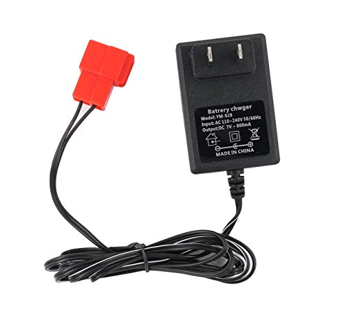 New 6 Volt Battery Charger for BMX X6 Kid TRAX Disney GMC Dinsney Wal-Mart Kid TRAX Moto ATV Quad Disney Ride On Car Red Square Plug, 6V Kids Ride On Car Charger