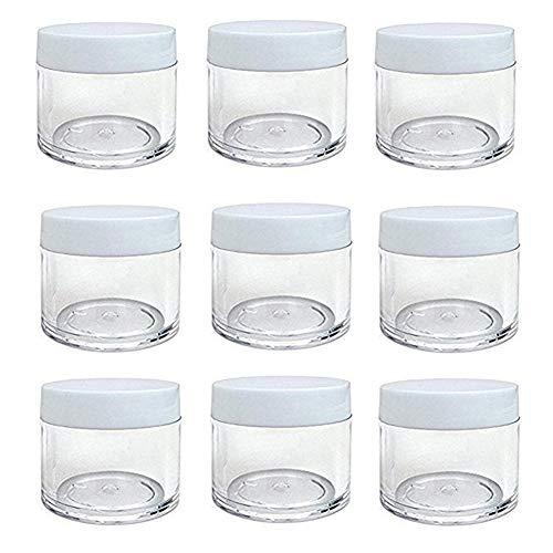 Botes de plástico transparente redondos de 30 ml con tapa de rosca, vacíos, para maquillaje, sombra de ojos, uñas, polvos de labios hechos a mano y otros productos de belleza