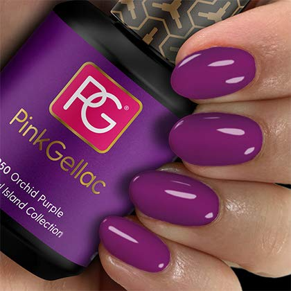 Pink Gellac Esmalte de uñas Shellac de 15 ml para lámpara UV LED | 250 Orchid Purple Lila Violeta | Gel Nail Polish for UV Nail Lamp | LED Nail Polish Gel Gel de uñas