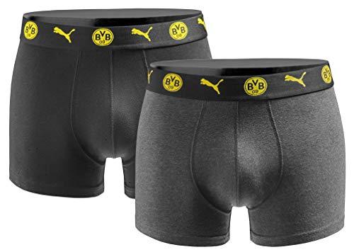 Puma Herren Boxershort BVB Borussia Dortmund 2er Pack - Black Yellow Gr. XL