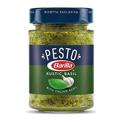 BARILLA Rustic Basil Pesto Sauce, 6.5 oz. Jar - Imported From Italy - Made with Fragrant Italian Basil & Freshly Grated Italian...
