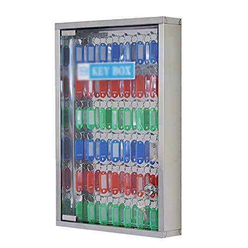 Armarios para llaves Caja De Llaves De Acero Inoxidable Montado En La Pared con Caja De Administración De Caja De Almacenamiento (Color : Silver, Size : 48bits)