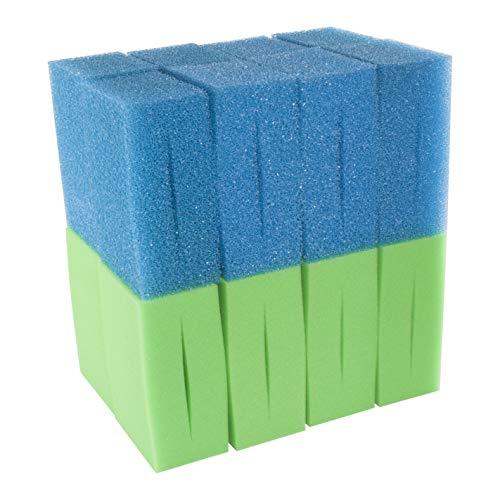 LTWHOME Compatible en Mousse Convient pour Oase Biotec Screenmatic 18 & 36 Remplacement Etang Bleu Grossier et Vert Excellent Mousseux Filtre Éponge (Paquet de 16)