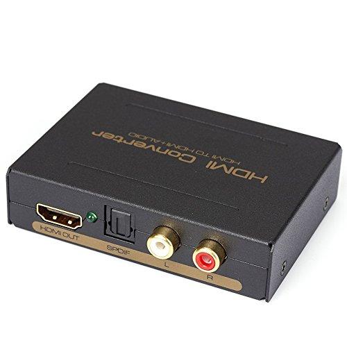 {iitrust HDMI→HDMI+オーディオ(SPDIF + L / R)コンバーター アダプター 光デジタル/アナログステレオ出力対応 HDMIサウンド分離器 hdmi 分配器 hdmi スプリッター psp3/Blu-ray player/ cable box/ Apple TV など対応 ACアダプタ/英語取扱説明書付きiitrust正規代理品}