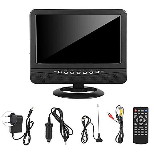 Reproductor de televisión móvil, televisor portátil con ángulo de visión amplio de 9,5 pulgadas, reproductor de televisión con DVD móvil analógico, UE 100-240 V