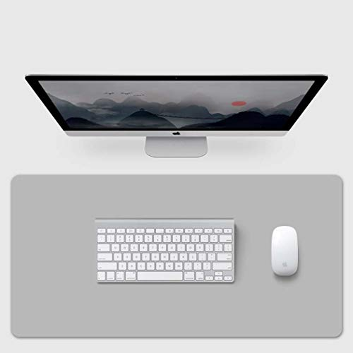 XYANZ Sottomano, Office Desk Mat, Pelle 40cm x 80cm PU, Laptop Desk Mat, Impermeabile Desk Writing Pad per Ufficio e la casa, Dual-Sided (Grigio),100 * 60cm