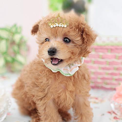 25pcs Hund Haarspangen Crown Form Pet Haarnadel Perlen Pet Princess Clips Nette Katze Haarspangen Bögen Puppy Grooming Haarschmuck für kleine, mittlere Hunde