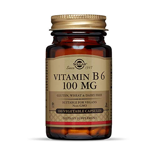 Solgar Vitamina B6 100 mg Cápsulas vegetales - Envase de 100