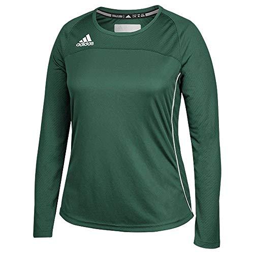 Adidas Mujer Climacool Manga Larga Utility Jersey XS Verde Oscuro-Blanco