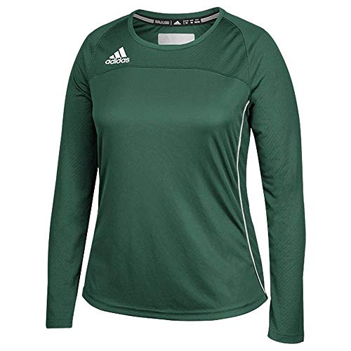 Adidas Womens Climacool Long Sleeve Utility Jersey M Dark Green-White