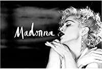 Madonna Sexy Beauty Star Black and White Canvas Wall Art Poster Custom Print Room Decor Bedroom Home Decor(23.62X35.43 Inches) 60X90Cm Frameless