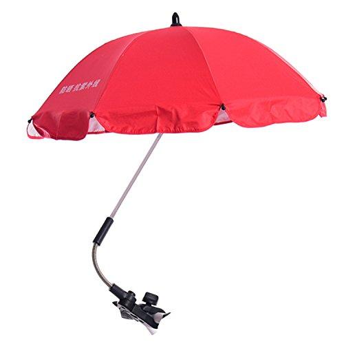 Einstellbar Baby Kinderwagen Sun Shade UV Regenschutz Umbrella Sonnenschirm mit Swivel Connector für Rollstuhl Kinderwagen Zubehör Rote