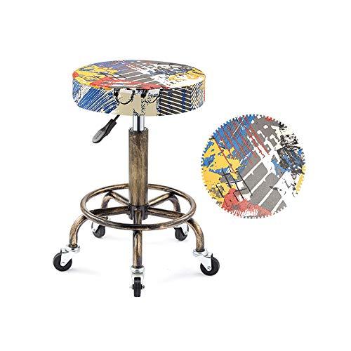 XJZHAN Tabouret De Selle Beauté Salon Chaise Hauteur Réglable Professionnel avec Roues Pivotantes Hydraulique pour La Coiffure Manucure,Color1