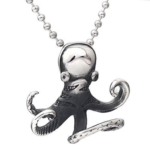 Anhänger Halskette Schmuck Mode 316L Edelstahl Octopus Form Perlenkette Anhänger Für Punk Männer Halskette