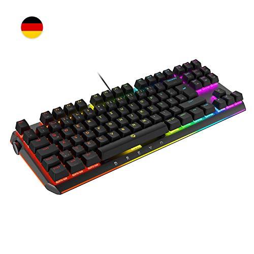 DREVO BladeMaster PRO 88K TKL Mechanische Gaming-Tastatur Deutsche Layout 2.4G Wireless/Bluetooth 4.0/USB-Kabel Cherry MX RGB Blauer Schalter