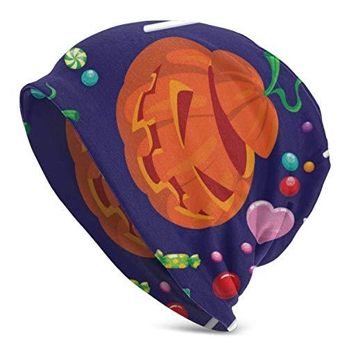 Voxpkrs Beanie Hat, Halloween Candy Cotton Premium Slouchy Beanie for Men & Women