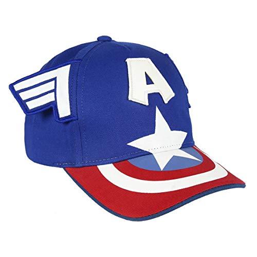 Artesania Cerda Gorra Innovación Avengers Capitan America, Rojo (Rojo Rojo), M (Tamaño del fabricante:53) para Niñas
