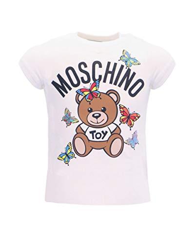Moschino T-Shirt M/C Butterflies Bimba, 6/9 Mesi (67cm), Bianco