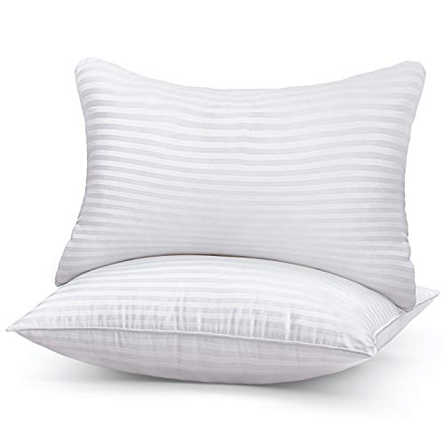 Bed Pillows for Sleeping 2 Pack Standard Size, Hypoallergenic Pillow for Side and Back Sleeper, Hotel Collection Gel Pillows Set of 2, Down Alternative Cooling Pillow, Soft Premium Plush Fiber Fill