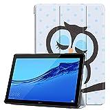KATUMO Funda para Huawei MediaPad T5 10,1 2018 Folio Funda con Tapa Cuero Funda para Tablet Huawei T5 10 Book Cover Protective Cover para Mediapad T5